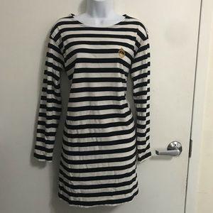 Ralph Lauren Blue & White Stripped Cotton Dress